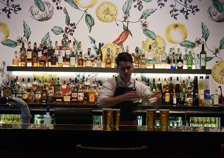 Bar tender at the Merrywell Crown Melbourne