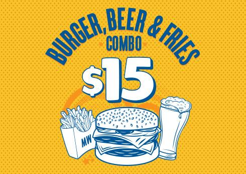 The Merrywell's $15 Combo - Crown Melbourne Restaurants