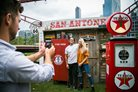 San Antone Smokehouse Festival 2019 MFWF posing in front of activation
