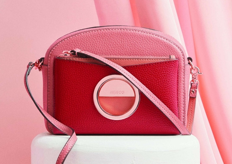 Lunar New Year at MIMCO shopping red leather handbag