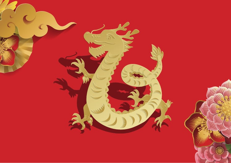 Lunar New Year Zodiacs year of the dragon
