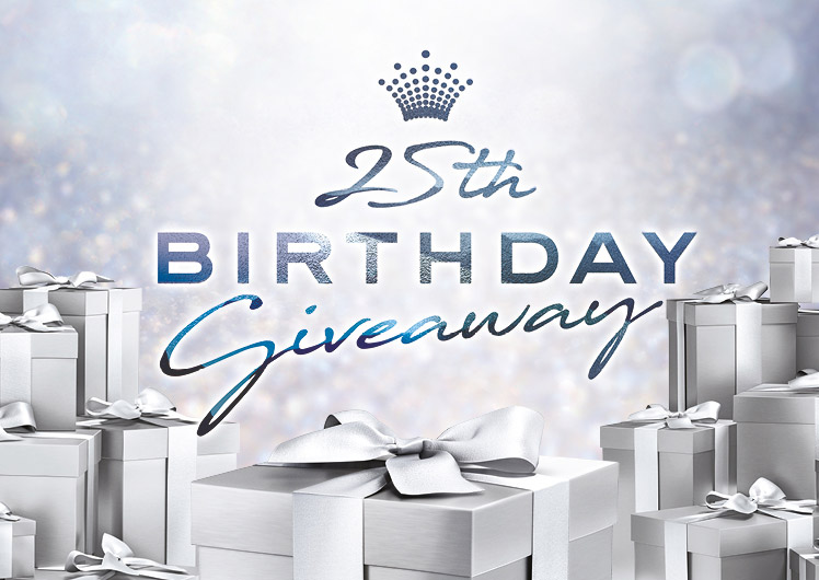 Crown's 25th birthday giveaway