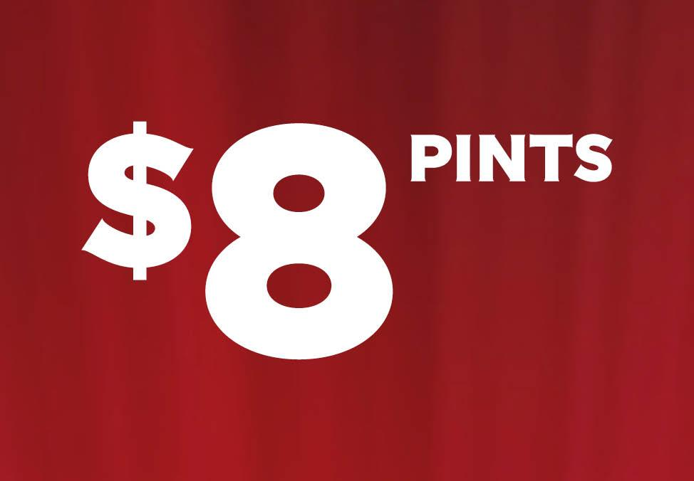 $8 Pints at Lagerfield & CrownBet Sports Bar - Crown Melbourne