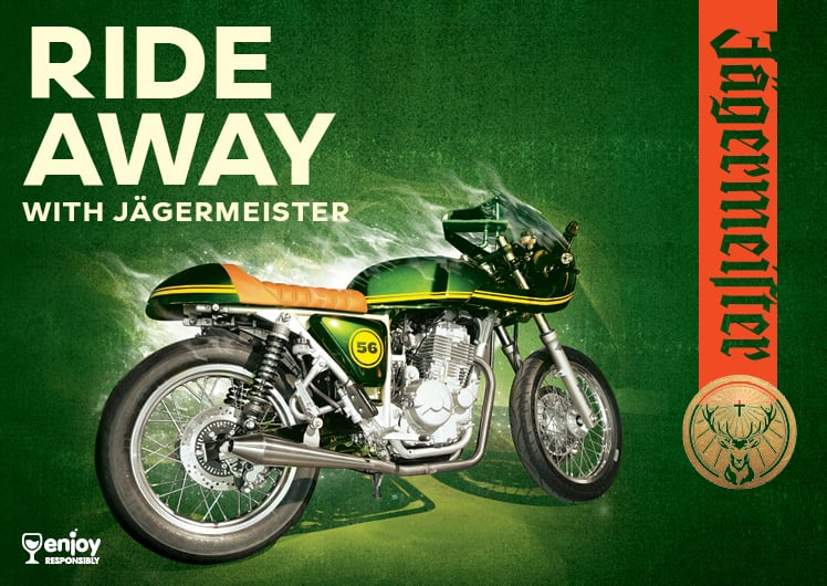 Ride away with Jagermeister