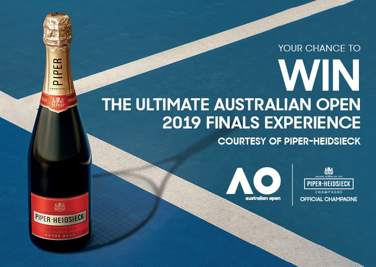 Win the ultimate Australian Open Experience – Courtesy of Piper-Heidsieck