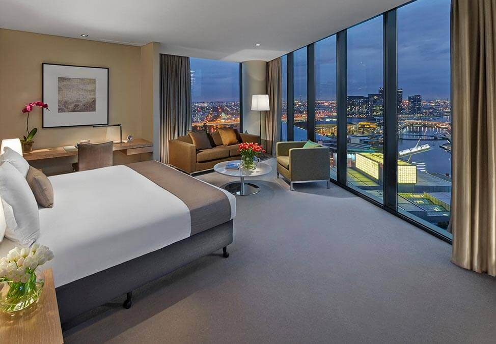 Crown Melbourne Hotels Promenade Studio Bedroom