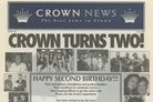 Crown Turns Two newspaper article