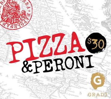 $30 Pizza & Peroni