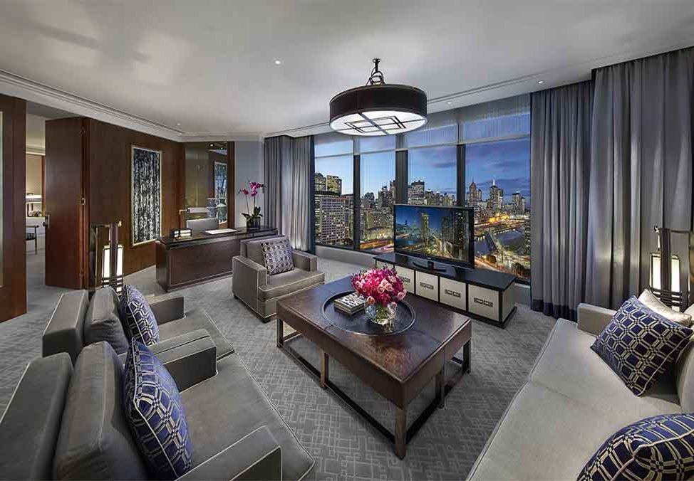 Melb Hotels CrownTowers DeluxeVilla LivingRoom
