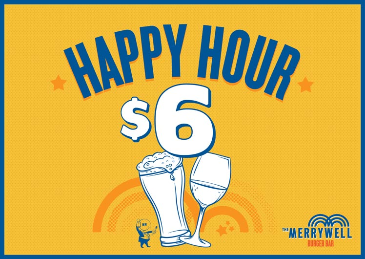 Merrywell Burger Bar Happy Hour