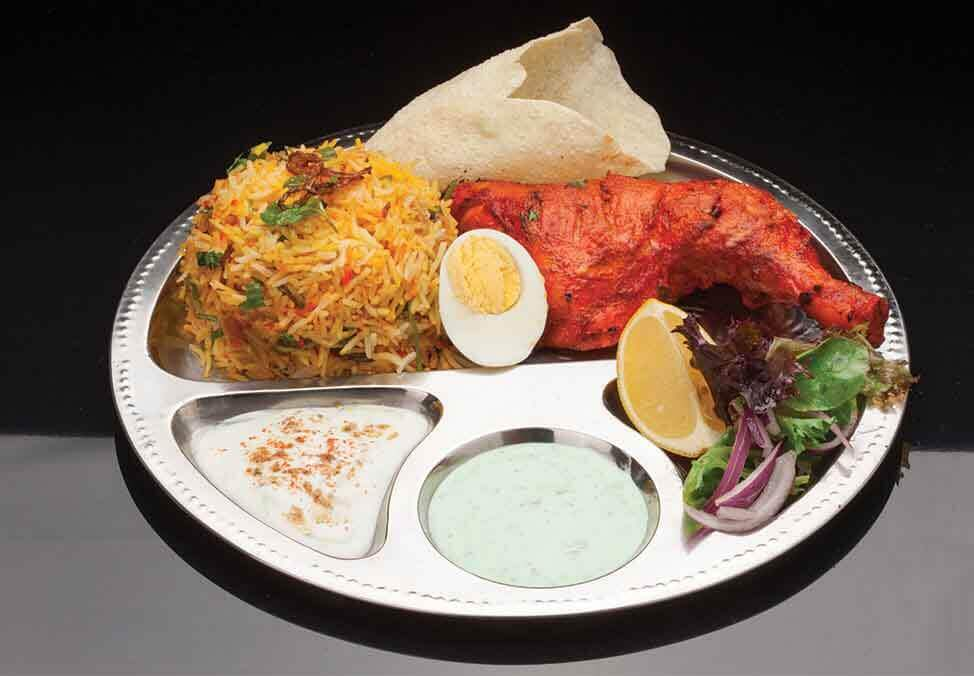 Melb Restaurants Food Court Tandoor Kitchen Meal Quad Image