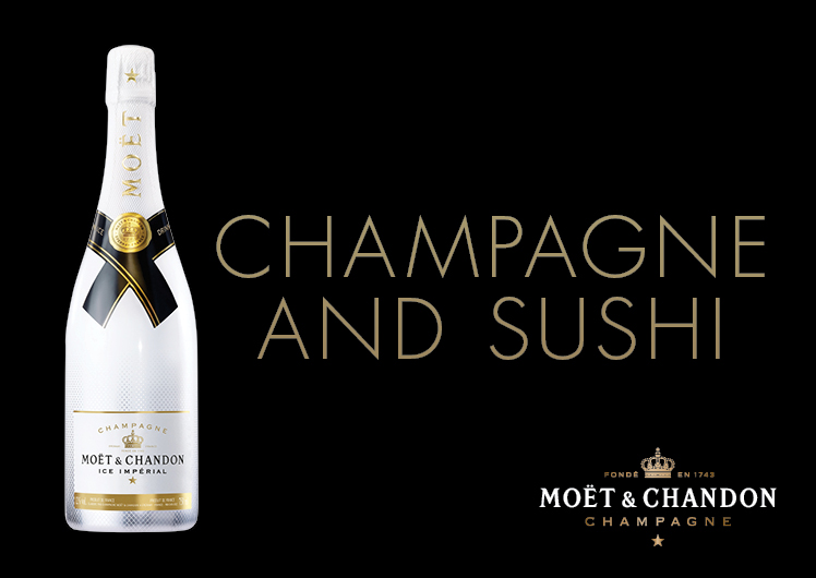 Nobu Champagne and Sushi with Piper Heidsieck champagne