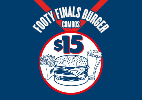 Footy Finals Burger Combo at The Merrywell - Crown Melbourne