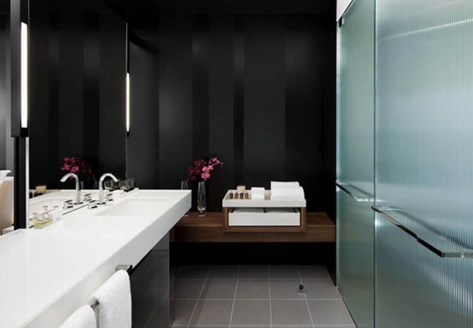 Melb Hotels CrownMetropol LuxeKing Bathroom