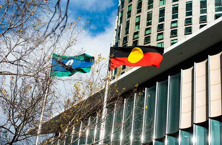 Indigenous Employment Program Crown Melbourne flags