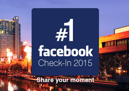 Crown Melbourne Facebook Number 1 Check-in