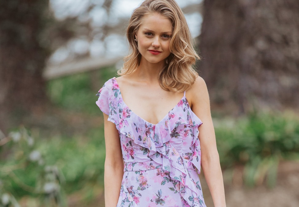 Forever New Destination Spring ruffle floral dress