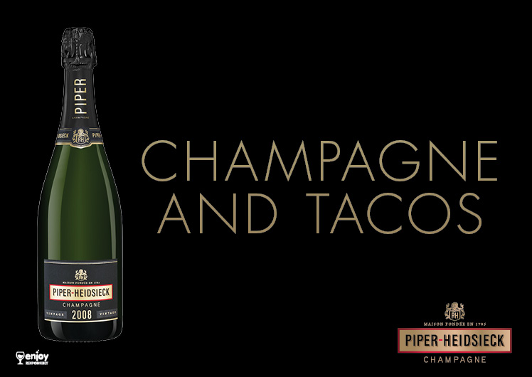 Nobu Champagne and Tacos with Piper Heidsieck champagne