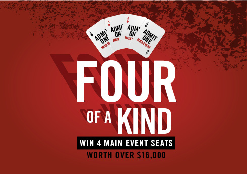 Crown Melbourne Casino Gaming WIN ALL 4 MAIN EVENT SEATS, WORTH OVER $16,000
