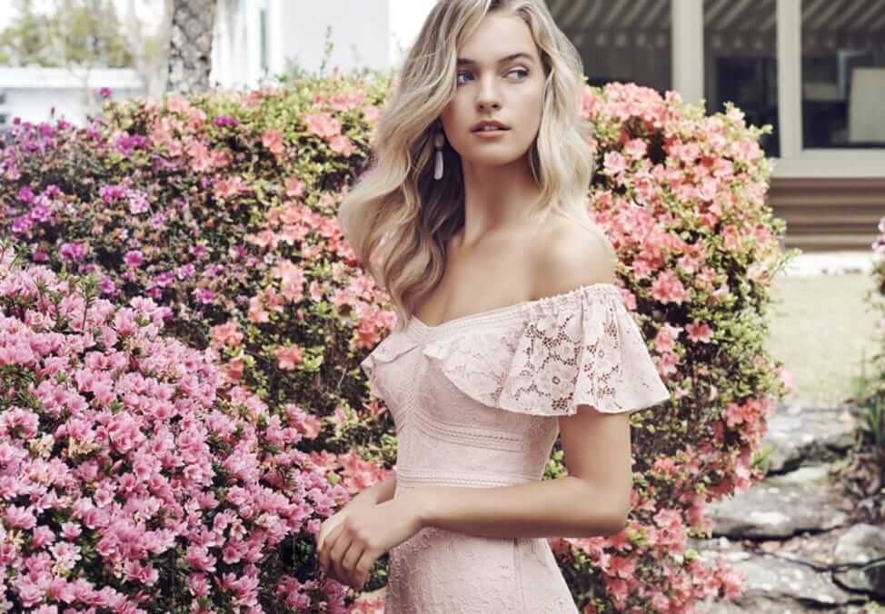 pink floral dress Forever New Collection at Crown Melbourne lifestyle shopping