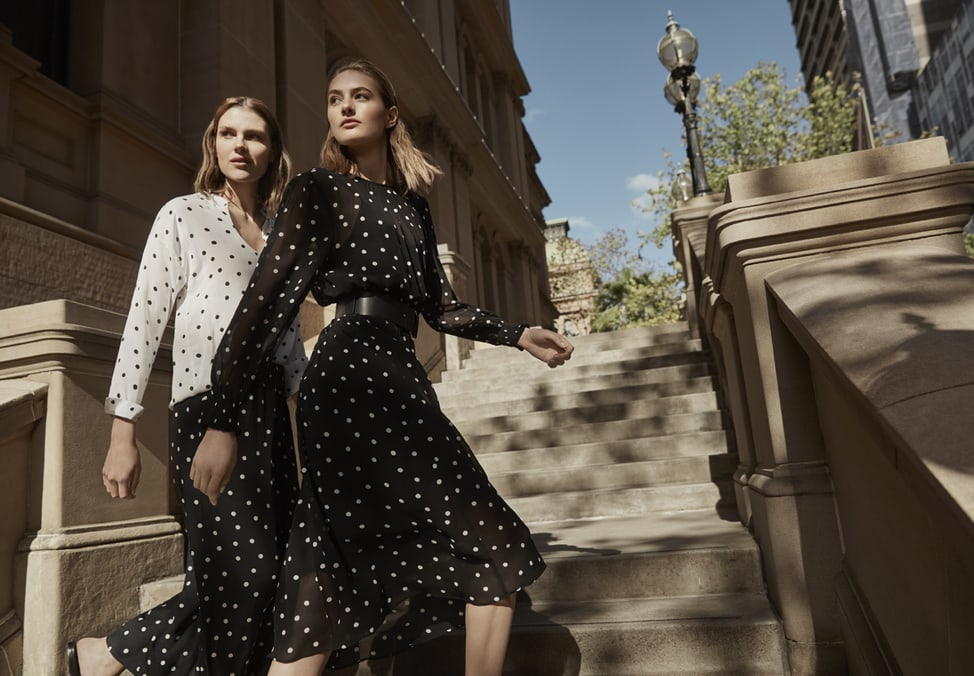 long silhouette office and evening wear from Witchery