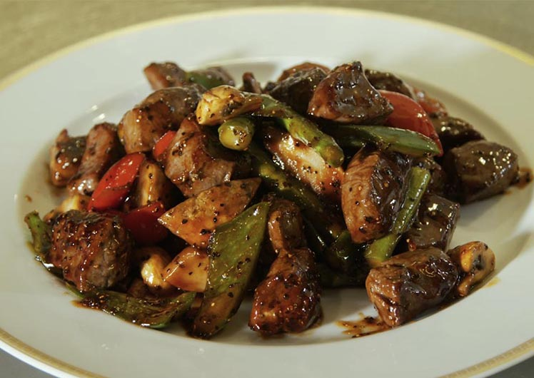 Chef Johnny's pepper beef