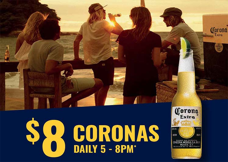 8 dollar coronas at crown melbourne bars