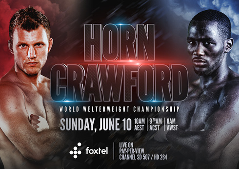 Jeff Horn vs Crawford Boxing match at CrownBet Sports Bar - Crown Melbourne