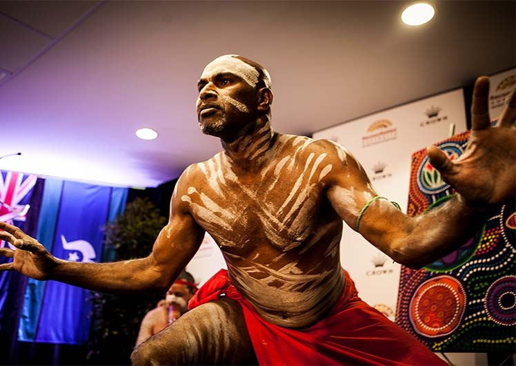 About Crown Melbourne's Indigenous Program traditional performer