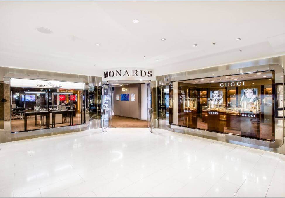 Crown Melbourne Shopping Luxury Retail Gucci at Monards Quad