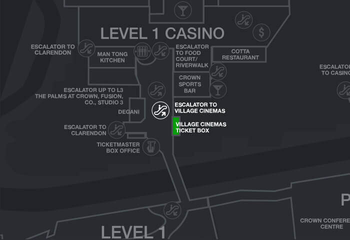 Crown casino maps number one casino resell sight