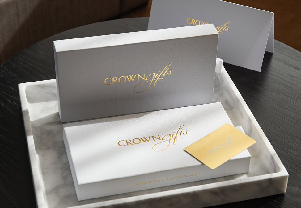 Crown Gift Card and packaging