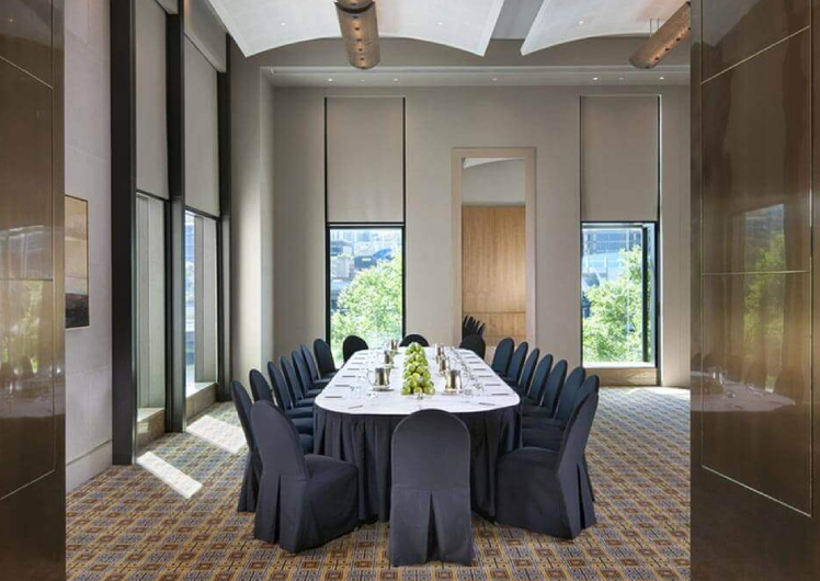 Meeting room board table at Crown Melbournes Garden Rooms