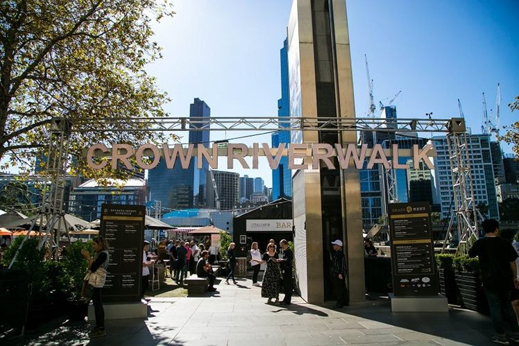 Melbourne Food and Wine Festival held on Crown Riverwalk