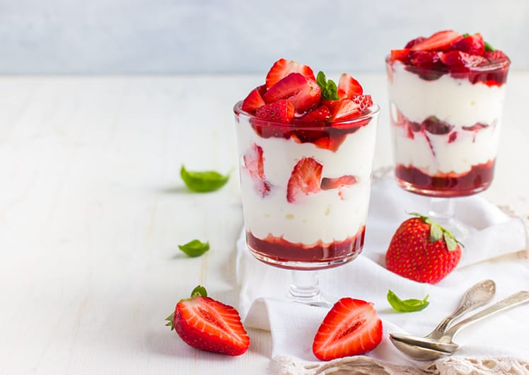 yogurt with strawberries crown melbourne events & conferences breakfast package