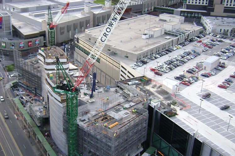 Crown Melbourne construction in 2007