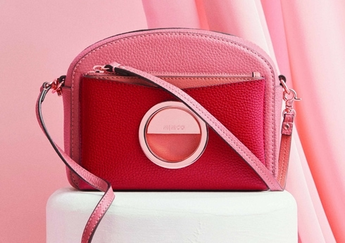 Lunar New Year at MIMCO red leather handbag
