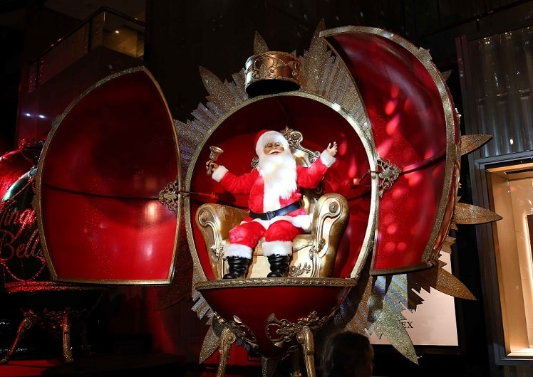 Animatronic Santa at Atrium Spectacular Crown Melbourne