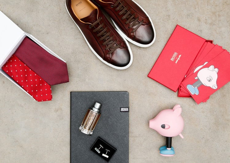 Hugo Boss Products with Lunar New Year Envelopes at Crown Melbourne