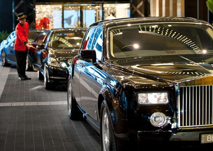valet parking attendant at crown Melbourne events & conferences